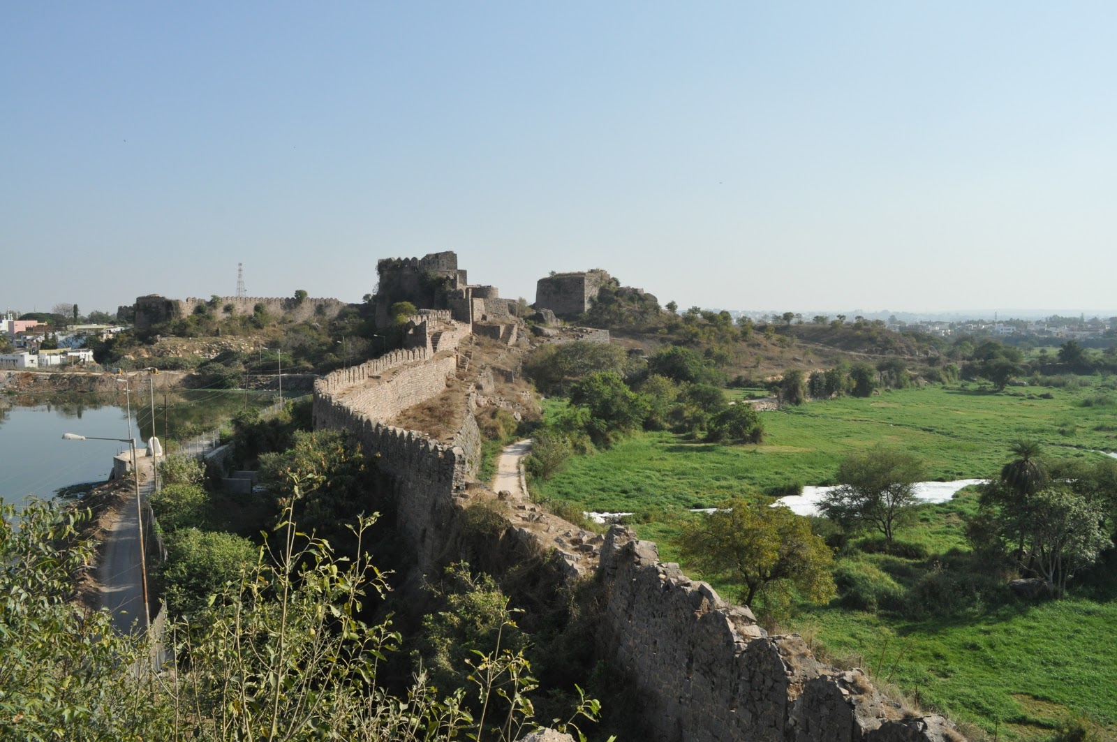 """golkonda fort essay One of the most spectacular monuments of india, golkonda fort is located 11kms west of hyderabad this historic fort derives its name from the telugu word """"golla konda"""" which means shepherd's hill."""