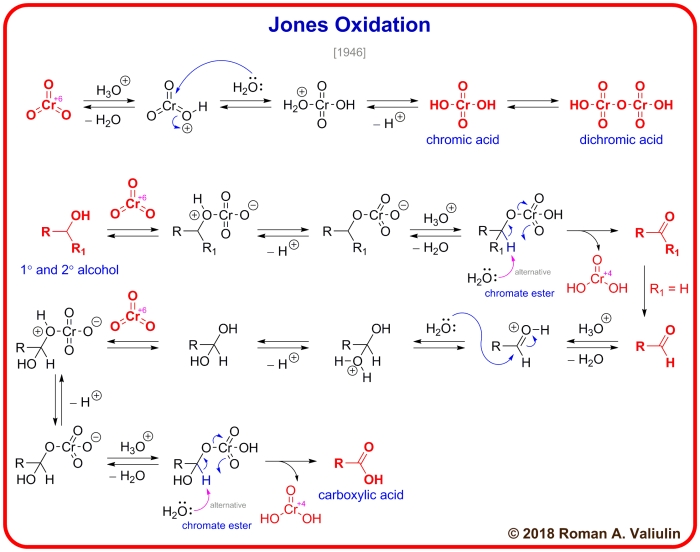 Jones Oxidation made by Roman A. Valiulin with ChemDraw